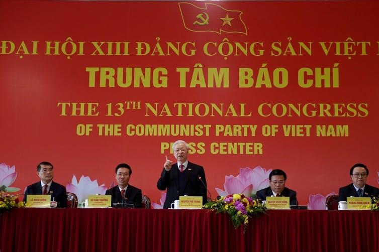 XIIIᵉ Congrès national du Parti communiste du Vietnam (PCV) au Centre national des congrès de Hanoi le 1ᵉʳ février 2021