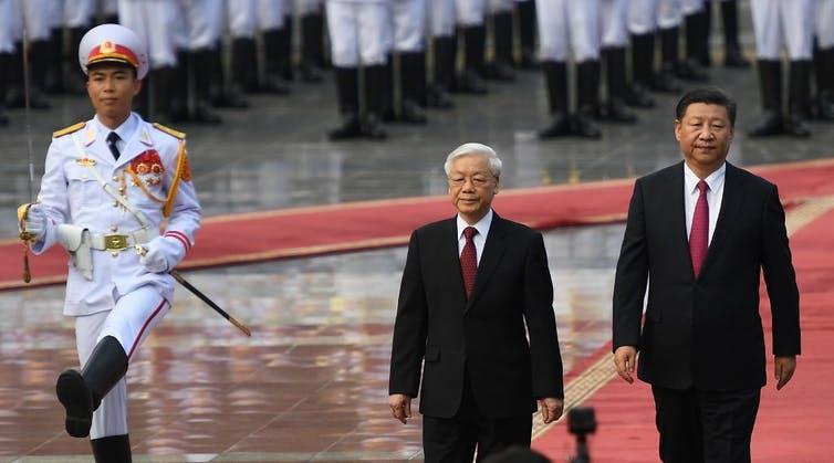 Nguyen Phu Trong et le président chinois XiJinping