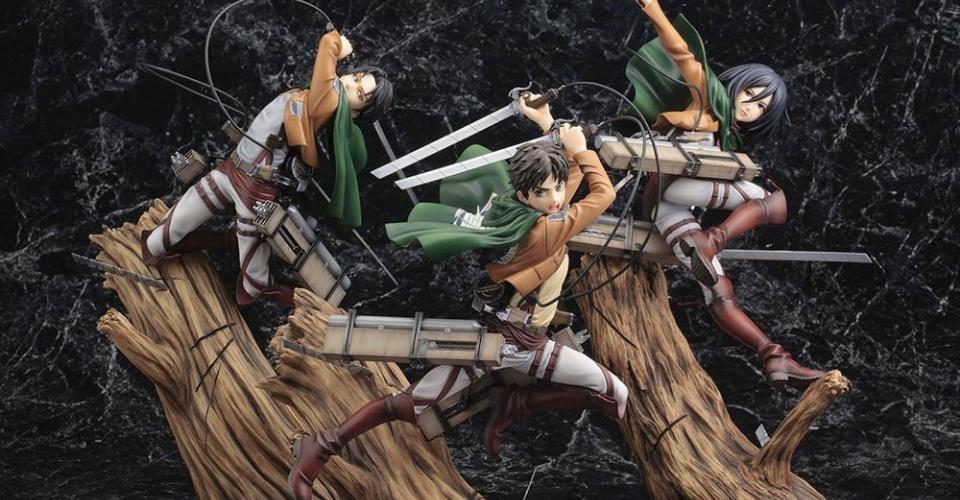 figurines attaque des titans